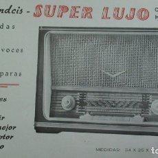 Radios antiguas: FRANDCIS FABRICACION EXCLUSIVA GUARDIA CIVIL. LOTE DE 16 FOLLETOS Y DOCUMENTOS DE RADIOS. Lote 183042791
