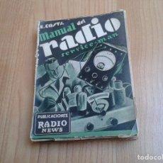 Radios antiguas: MANUAL DEL RADIO SERVICE MAN -- ENRICO COSTA -- PUBLICACIONES RADIO NEWS, 1937. Lote 183696380