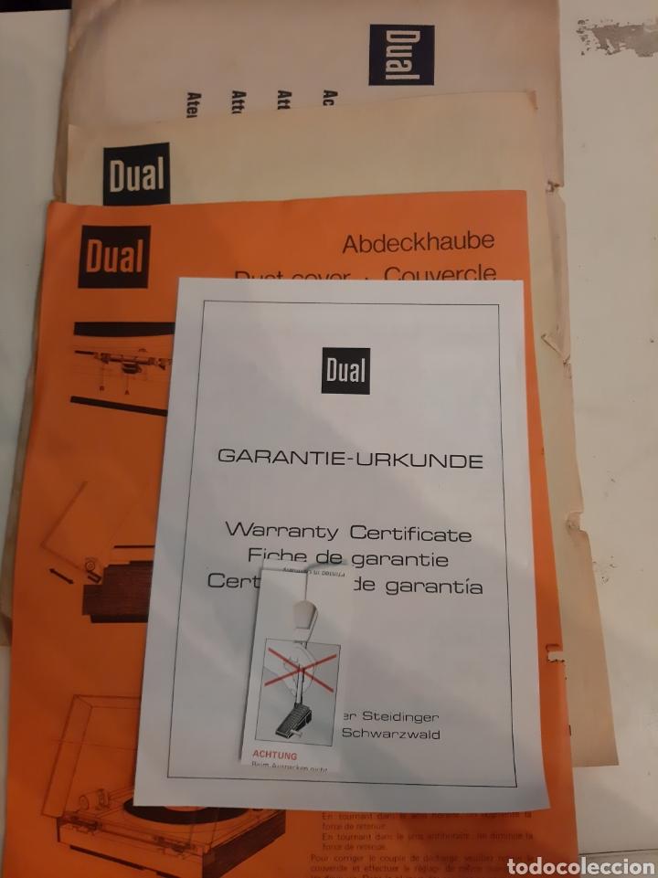 DUAL DOCUMENTOS TOCADISCOS GARANTIA INSTRUCCIONES (Radios, Gramófonos, Grabadoras y Otros - Catálogos, Publicidad y Libros de Radio)