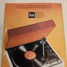 Radios antiguas: DUAL 701 TOCADISCOS CATÁLOGOS ESPECÍFICOS USO FUNCIONAMIENTO. Lote 184760070