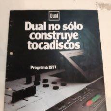 Radios antiguas: DUAL 1977 TOCADISCOS MAGNETÓFONO AMPLIFICADORES RECEPTORES BAFLES. Lote 184760340