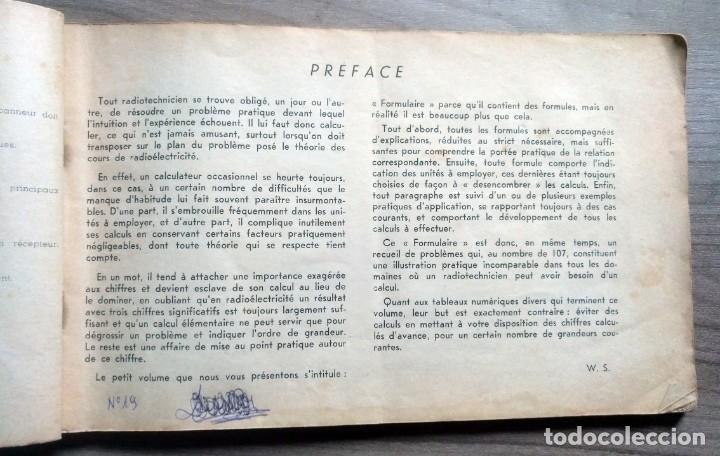 Radios antiguas: libro, electronica, formulalrio, formulaire radio, paris, esta en frances - Foto 4 - 241482255