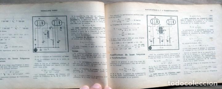 Radios antiguas: libro, electronica, formulalrio, formulaire radio, paris, esta en frances - Foto 6 - 241482255