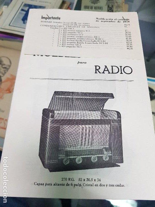 ANTIGUO CATALOGO TARIFA DE PRECIOS MUEBLES RADIO ELIA MADRID (Radios, Gramófonos, Grabadoras y Otros - Catálogos, Publicidad y Libros de Radio)
