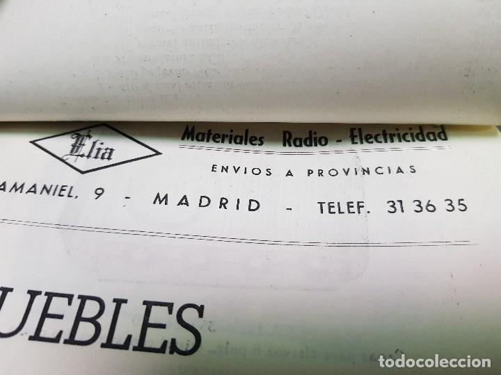 Radios antiguas: ANTIGUO CATALOGO TARIFA DE PRECIOS MUEBLES RADIO ELIA MADRID - Foto 2 - 188403347