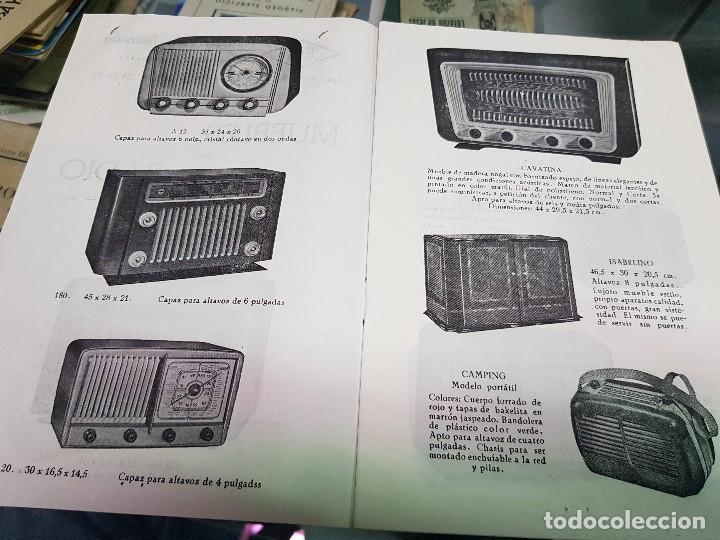 Radios antiguas: ANTIGUO CATALOGO TARIFA DE PRECIOS MUEBLES RADIO ELIA MADRID - Foto 3 - 188403347