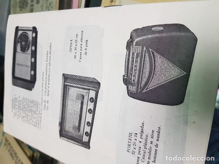 Radios antiguas: ANTIGUO CATALOGO TARIFA DE PRECIOS MUEBLES RADIO ELIA MADRID - Foto 5 - 188403347