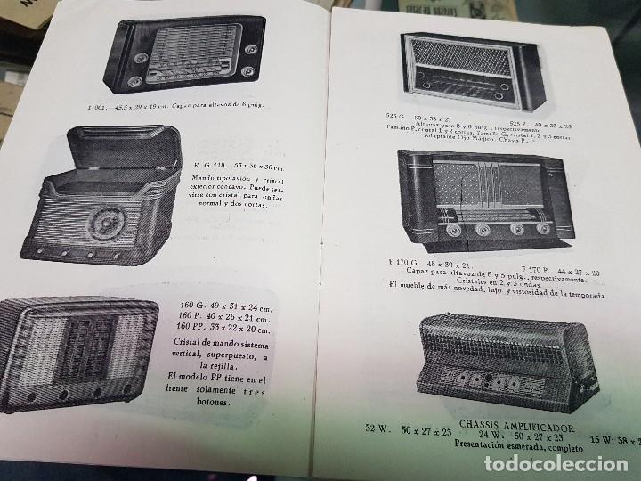 Radios antiguas: ANTIGUO CATALOGO TARIFA DE PRECIOS MUEBLES RADIO ELIA MADRID - Foto 6 - 188403347