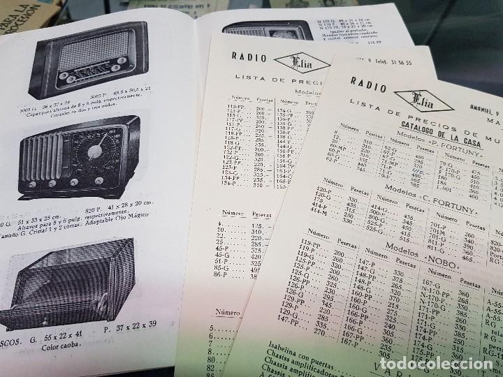 Radios antiguas: ANTIGUO CATALOGO TARIFA DE PRECIOS MUEBLES RADIO ELIA MADRID - Foto 7 - 188403347
