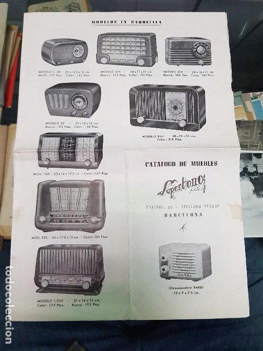 ANTIGUO CATALOGO TARIFA DE PRECIOS MUEBLES RADIO SUPERTONO BARCELONA (Radios, Gramófonos, Grabadoras y Otros - Catálogos, Publicidad y Libros de Radio)
