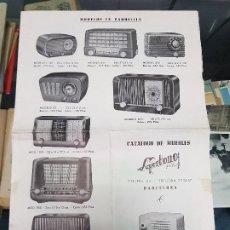 Radios antiguas: ANTIGUO CATALOGO TARIFA DE PRECIOS MUEBLES RADIO SUPERTONO BARCELONA. Lote 188403773