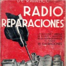 Radios antiguas: RAVALICO . RADIO REPARACIONES (CANDIANI, 1944). Lote 188709446