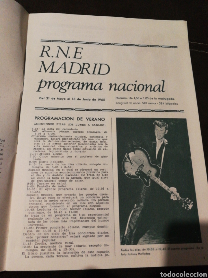 Radios antiguas: BOLETÍN OFICIAL RADIO NACIONAL ESPAÑA 1965, n°39 - Foto 2 - 189129006