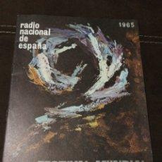 Radios antiguas: BOLETÍN OFICIAL RADIO NACIONAL ESPAÑA 1965, N°39. Lote 189129006