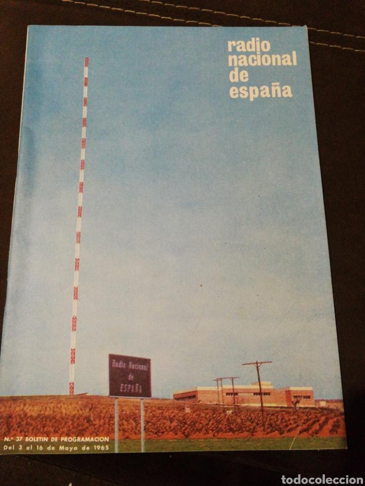 BOLETÍN OFICIAL RADIO NACIONAL ESPAÑA 1965, N°37 (Radios, Gramófonos, Grabadoras y Otros - Catálogos, Publicidad y Libros de Radio)