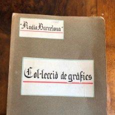 Radios antiguas: RADIO BARCELONA EAJ-1. INTERESANTE DOSSIER ORIGINAL A MANO. 1924-1934. PLANOS DESPLEGABLES. Lote 191173160