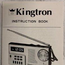 Radios antiguas: LIBRO DE INSTRUCCIONES INSTRUCTION BOOK RADIO TRANSISTOR KINGTRON MODEL: KT-900. Lote 193268756