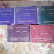 Radios antiguas: CURSO DE RADIO POR CORREO MAYMÓ COMPLETO. Lote 193811926