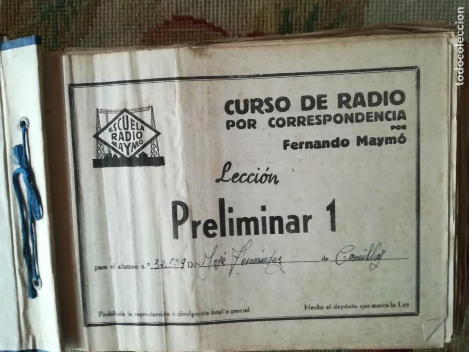 Radios antiguas: CURSO DE RADIO POR CORREO MAYMÓ COMPLETO - Foto 6 - 193811926