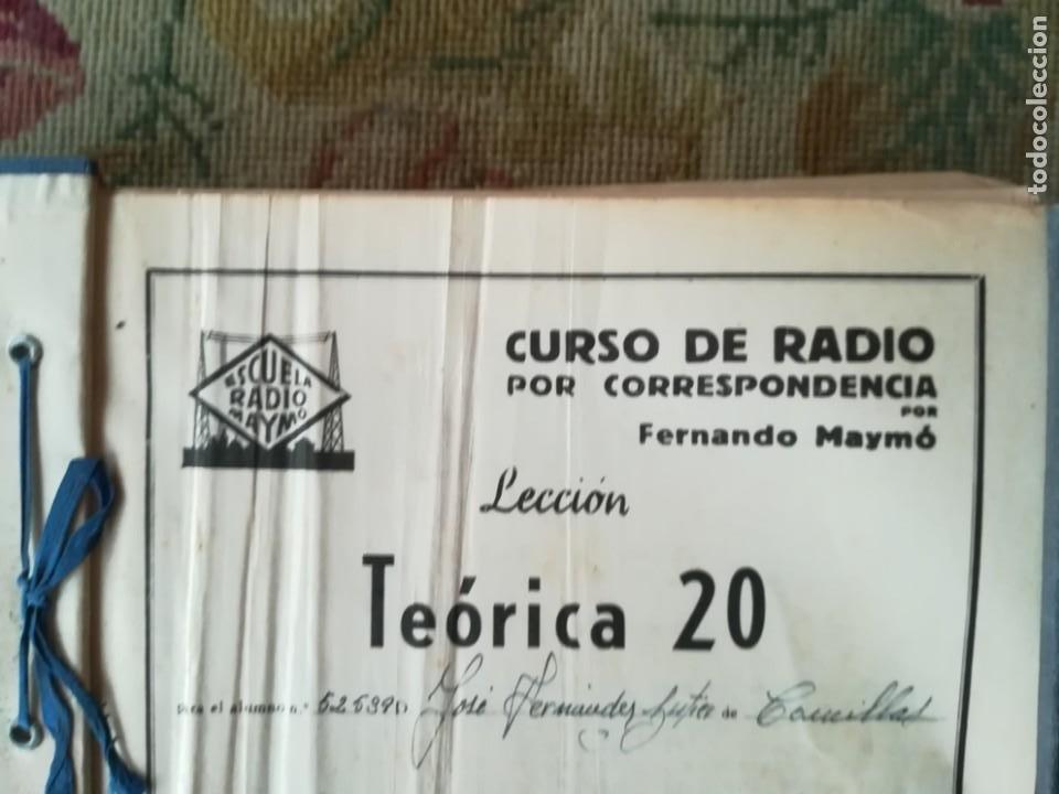 Radios antiguas: CURSO DE RADIO POR CORREO MAYMÓ COMPLETO - Foto 7 - 193811926