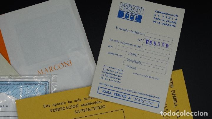 Radios antiguas: MANUAL DE SERVICIO TECNICO - MARCONI - TELEVISOR SONOMAT MODELO TM 1032 - 1969 - Foto 2 - 193867138