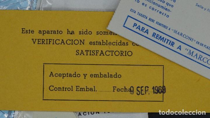 Radios antiguas: MANUAL DE SERVICIO TECNICO - MARCONI - TELEVISOR SONOMAT MODELO TM 1032 - 1969 - Foto 3 - 193867138