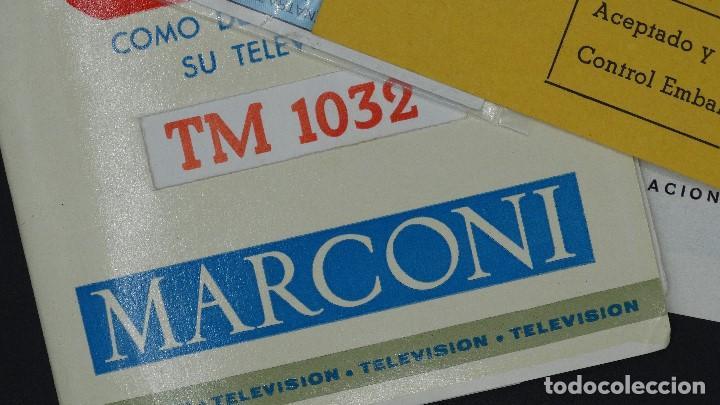 Radios antiguas: MANUAL DE SERVICIO TECNICO - MARCONI - TELEVISOR SONOMAT MODELO TM 1032 - 1969 - Foto 4 - 193867138