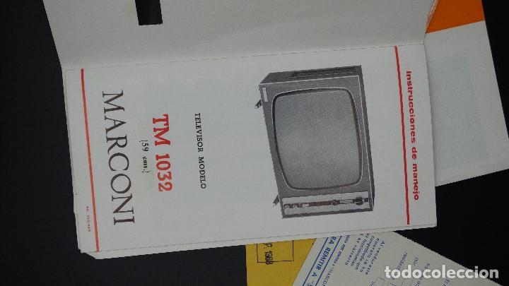 Radios antiguas: MANUAL DE SERVICIO TECNICO - MARCONI - TELEVISOR SONOMAT MODELO TM 1032 - 1969 - Foto 6 - 193867138
