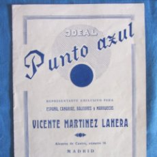 Radios antiguas: IDEAL PUNTO AZUL. CATALOGO DE RADIO Y ALTAVOCES. 1931. Lote 193969058