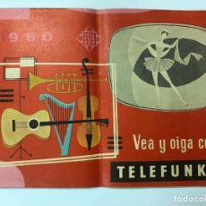 Radios antiguas: TELEFUNKEN 1960 CATÁLOGO MODELOS RADIO, TOCADISCOS, TELEVISORES, 24 PAG. A COLOR. Lote 195899947