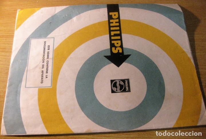 ANTIGUO SOBRE PARA DOCUMENTACION APARATO DE RADIO PHILIPS - 18/23 CM (Radios, Gramófonos, Grabadoras y Otros - Catálogos, Publicidad y Libros de Radio)