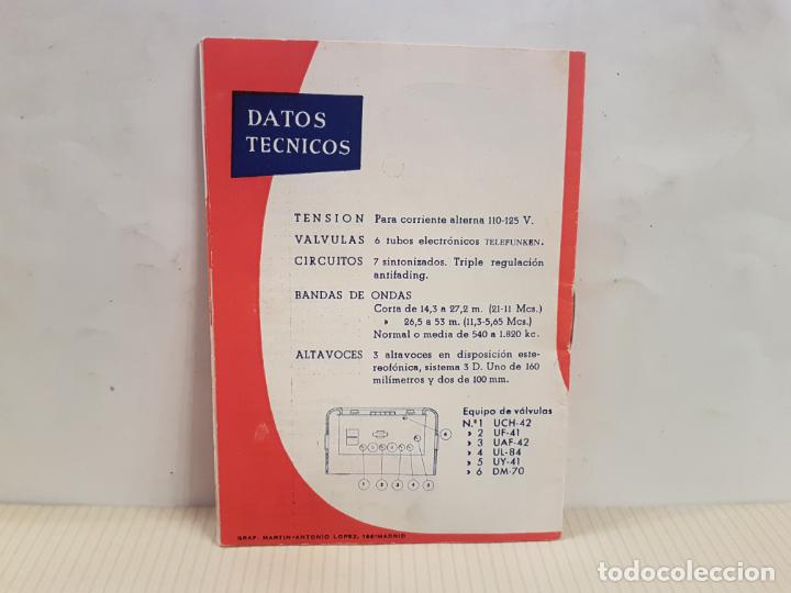 Radios antiguas: antiguo catalogo instrucciones de manejo fono-radio telefunken buenisimo estado - Foto 2 - 197710500