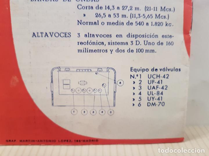 Radios antiguas: antiguo catalogo instrucciones de manejo fono-radio telefunken buenisimo estado - Foto 3 - 197710500