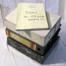 Radios antiguas: CONJUNTO DE MANUALES DE SERVICIO DE VÍDEOS VHS Y BETA DE DIFERENTES MARCAS. Lote 198951046