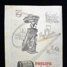 Radios antiguas: PUBLICIDAD RADIO PHILIPS IBERICA, S.A.E.. AMPLIFICACIÓN. 1954. Lote 199397003