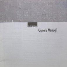 Radios antiguas: MANUAL INSTRUCCIONES DVD ROTEL RDV-985. Lote 199841618