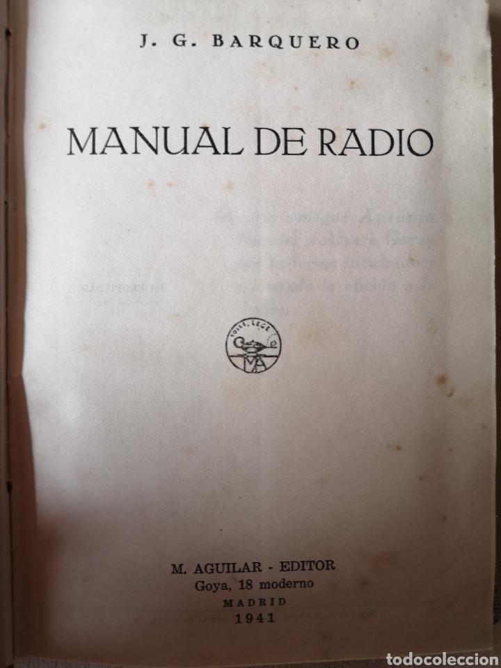 Radios antiguas: Manual de Radio 1942 Joaquín Gómez Baquero - Foto 2 - 199858796