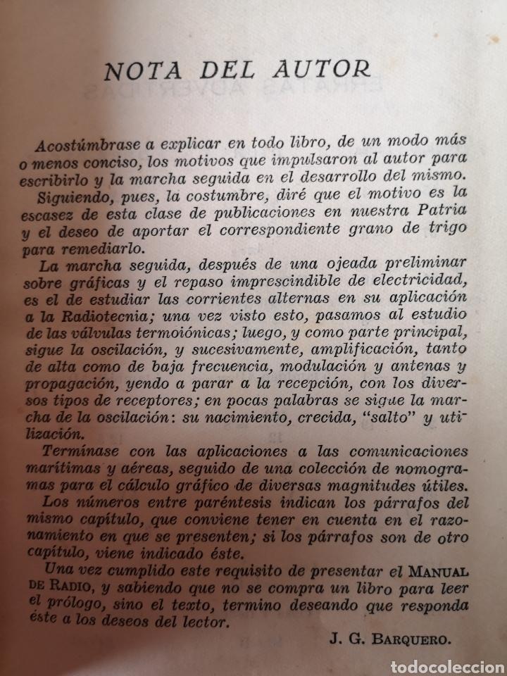 Radios antiguas: Manual de Radio 1942 Joaquín Gómez Baquero - Foto 3 - 199858796