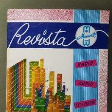 Radios antiguas: REVISTA MINIWATT .JULIO 1965. Lote 199906585