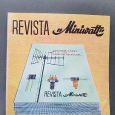 Radios antiguas: REVISTA MINIWATT . JULIO 1969. Lote 199924541