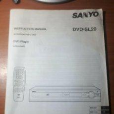 Radios antiguas: LIBRO INSTRUCCIONES. MANUAL SANYO DVD-SL20. VARIOS IDIOMAS.. Lote 201969641