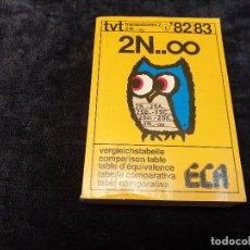 Rádios antigos: LIBRO DE TABLA COMPARATIVA DE TRANSISTORES ECA. Lote 202814298
