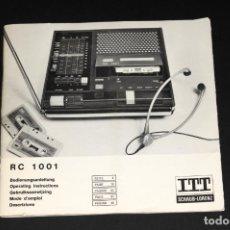 Radios antiguas: CATALOGO RADIO Y CASSETTE ITT (SCHAUB - LORENZ) RC 1001. Lote 202884525