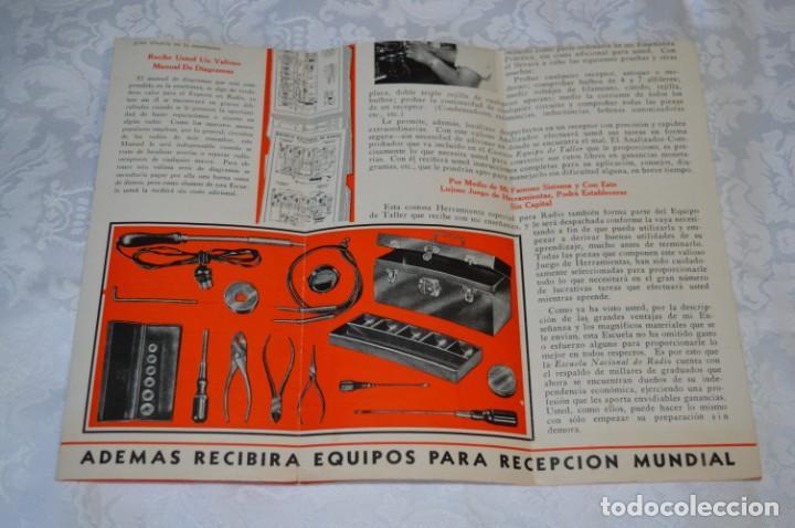 Radios antiguas: Lote documentos curso CIENCIA y MECÁNICA / Instituto RosenKranz / Los Ángeles USA - 1935/36 ¡Mira! - Foto 3 - 202891783