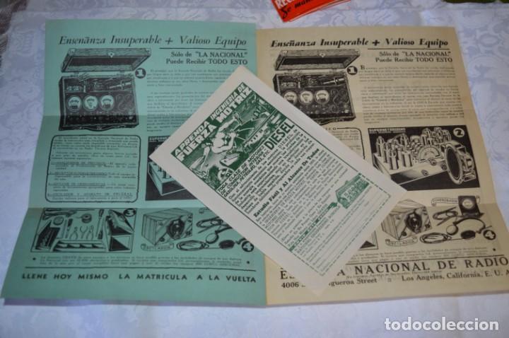 Radios antiguas: Lote documentos curso CIENCIA y MECÁNICA / Instituto RosenKranz / Los Ángeles USA - 1935/36 ¡Mira! - Foto 4 - 202891783