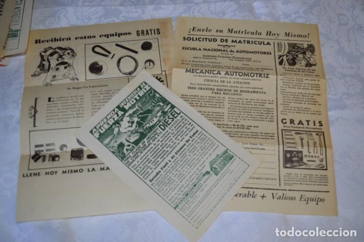 Radios antiguas: Lote documentos curso CIENCIA y MECÁNICA / Instituto RosenKranz / Los Ángeles USA - 1935/36 ¡Mira! - Foto 5 - 202891783