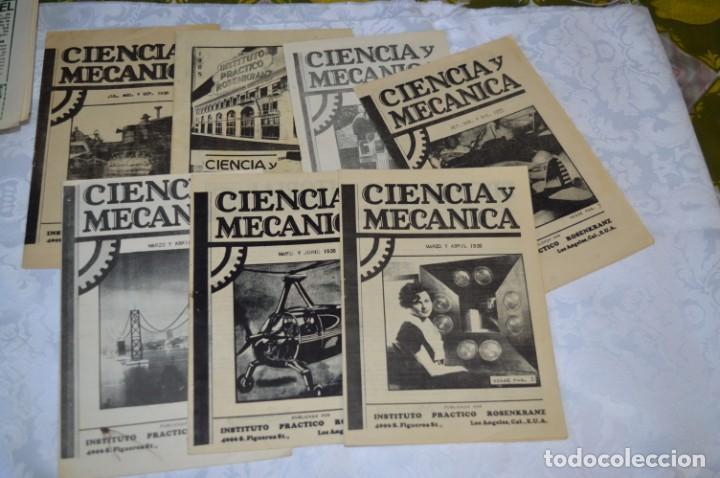 Radios antiguas: Lote documentos curso CIENCIA y MECÁNICA / Instituto RosenKranz / Los Ángeles USA - 1935/36 ¡Mira! - Foto 6 - 202891783
