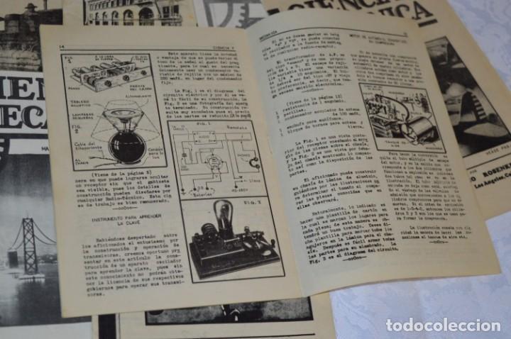Radios antiguas: Lote documentos curso CIENCIA y MECÁNICA / Instituto RosenKranz / Los Ángeles USA - 1935/36 ¡Mira! - Foto 7 - 202891783