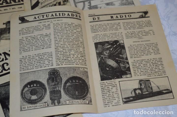 Radios antiguas: Lote documentos curso CIENCIA y MECÁNICA / Instituto RosenKranz / Los Ángeles USA - 1935/36 ¡Mira! - Foto 10 - 202891783