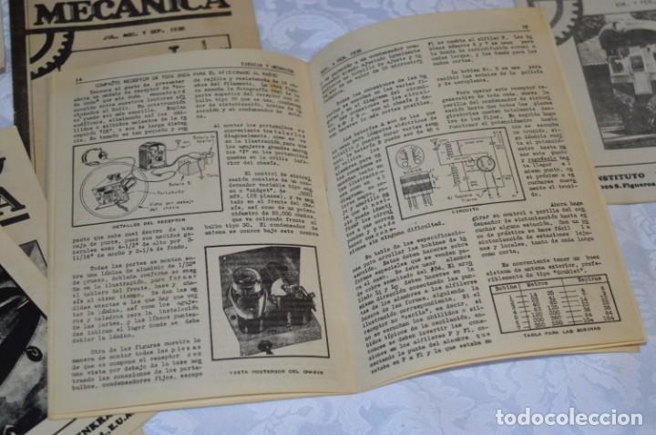 Radios antiguas: Lote documentos curso CIENCIA y MECÁNICA / Instituto RosenKranz / Los Ángeles USA - 1935/36 ¡Mira! - Foto 11 - 202891783